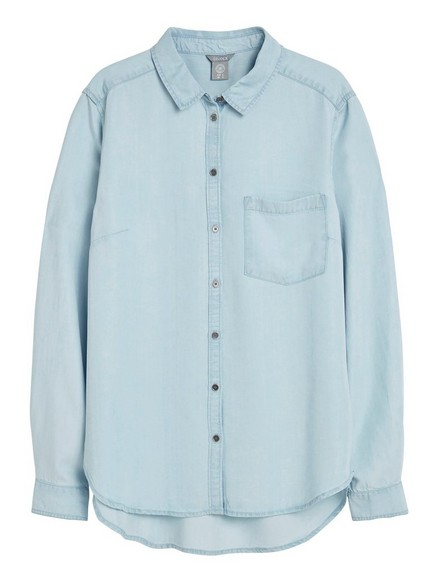 Blå Jeansskjorte i lyocell 149,50   Lindex