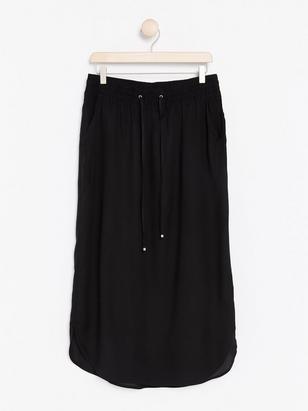 Viscose Skirt Black