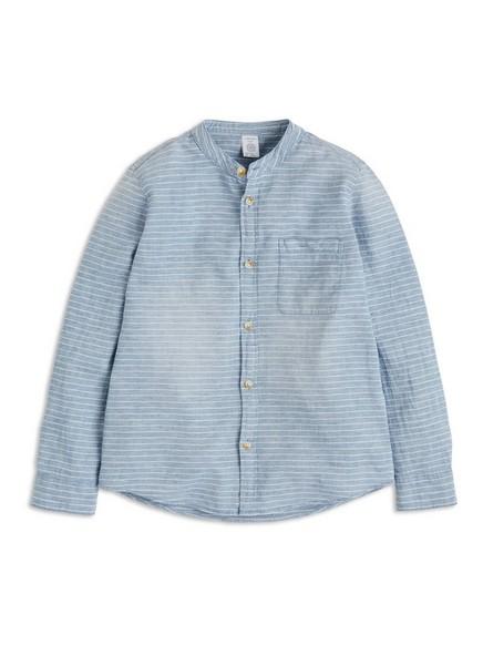 Košile bez límečku Modrá