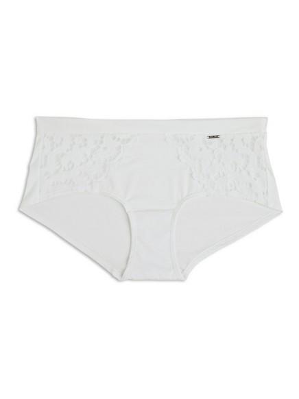 Kalhotky sklasickou výškou pasu Bílá