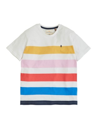 5450367a White Striped T-shirt 4,95€ | Lindex