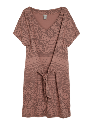 Tie-front Tunic in Tencel® Blend Coral