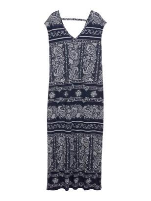 Klänning i Tencel®-blandning Blå