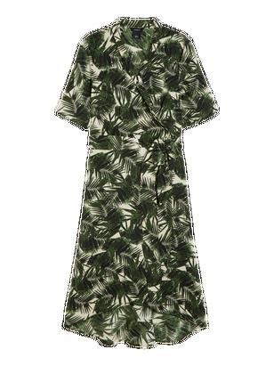 Patterned Wrap Dress Skin