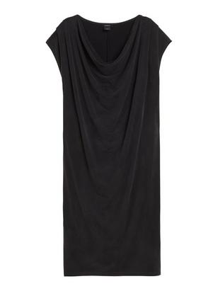 Dress with Draping Black