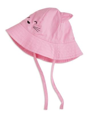 Sun Hat with Cat Pink