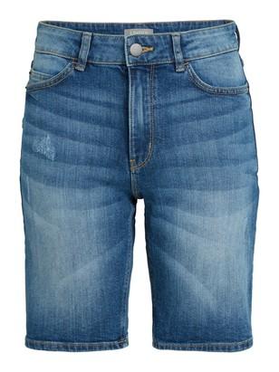 Džínové šortky vklasickém střihu Modrá