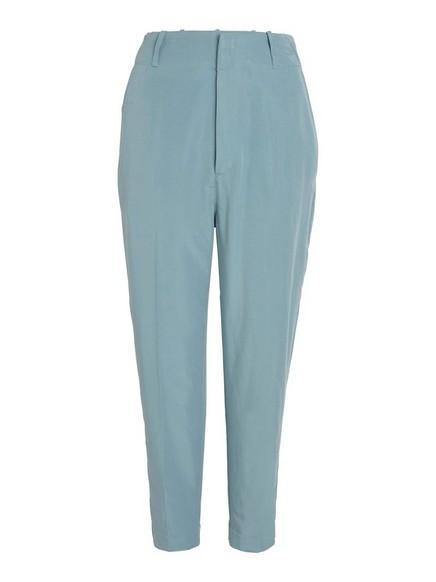 Korkeavyötäröiset väljät housut Sininen
