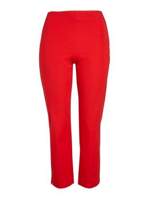 JONNA Slim High Waist Trousers Red