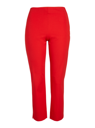 JONNA Slim High Waist Trousers Red