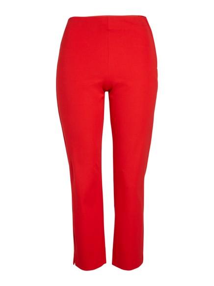 Úzké kalhoty JONNA svysokým pasem Červená