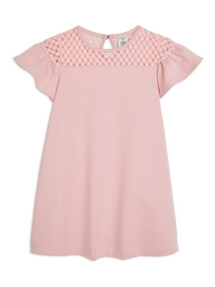 Dress with Lace Pink