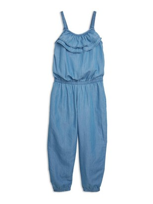 Jumpsuit in Tencel® Blend Blue