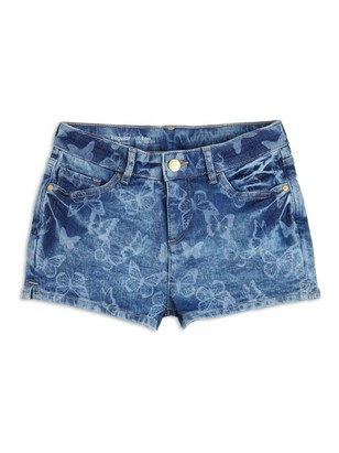 Regular Denim-shorts Blå