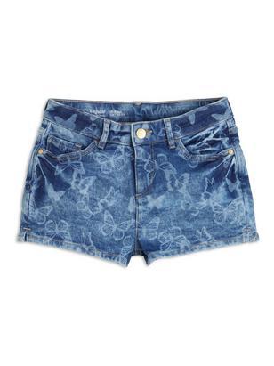 Regular Denim Shorts Blue
