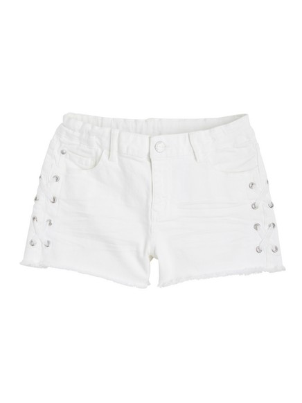 Smal shorts med blonder Hvit