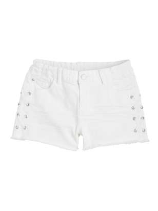 Narrow Shorts with Lacing White