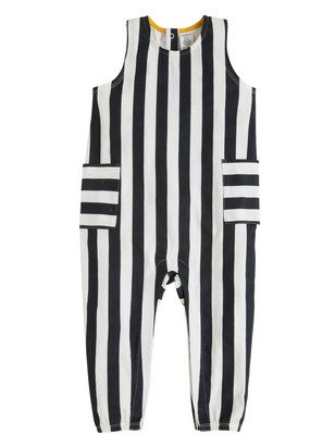 Stripete jumpsuit Svart