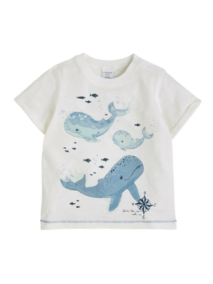 T-shirt with Print White