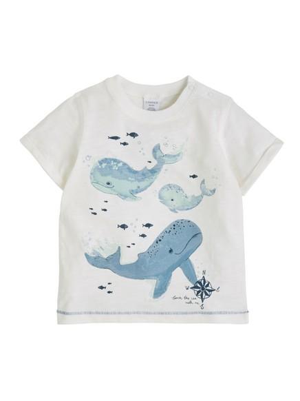 T-skjorte med trykk Hvit
