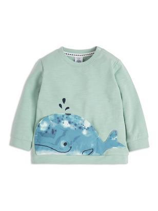 Sweater with Pocket Aqua