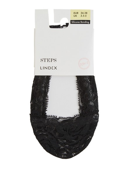 Steps med blonder Svart