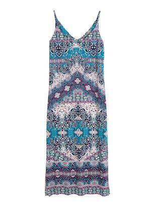 Tencel® blend Dress Turquoise