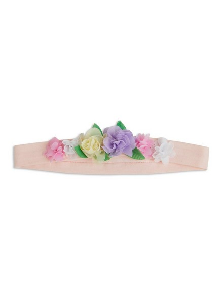 Hairband with Flowers Pink