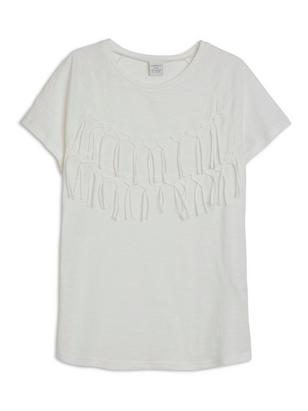 Top with Fringes White