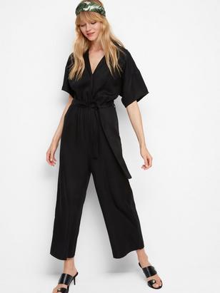 Jumpsuit in Tencel® Black