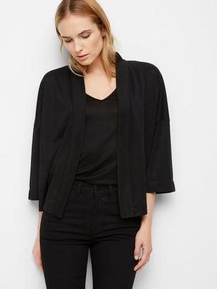 Fine-knit Cardigan Black