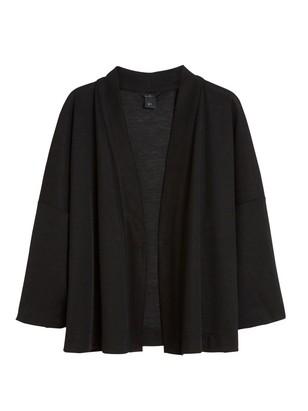 Fine-knit Cardigan Black