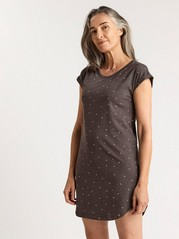 Night Dress with Hearts  Grey