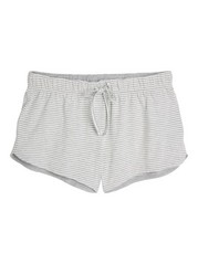 Striped Pyjama Shorts  Grey