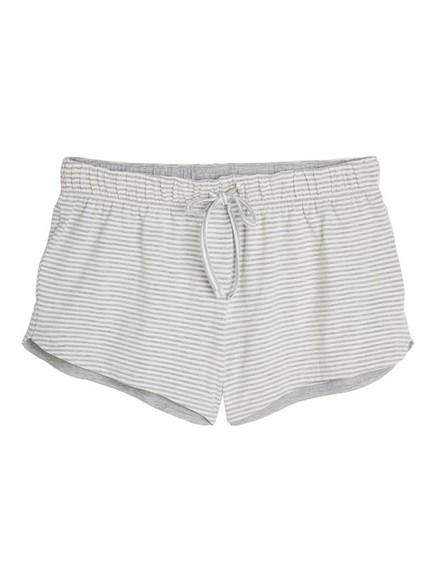 Stripete pyjamasshorts Grå