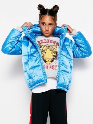 Shiny Padded Jacket Blue