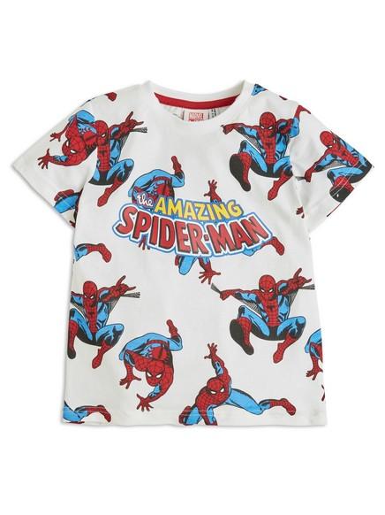 T-skjorte med Spider-Man-trykk Hvit