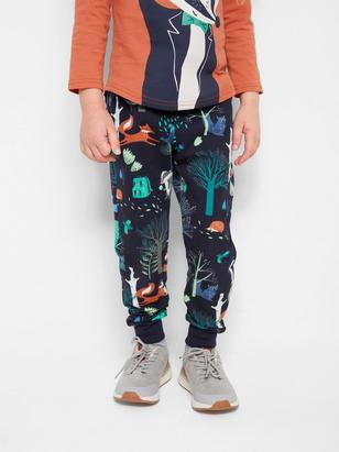 Trousers with Print Blue