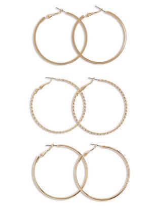 6-pack Earrings Yellow