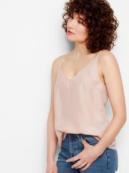 Hedvábná košilka Růžová
