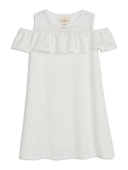 Šaty sprůstřihy na ramenou Bílá