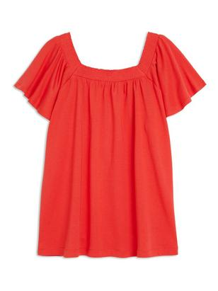 Top with Smock Red