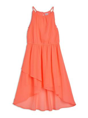 Chiffon Dress Coral