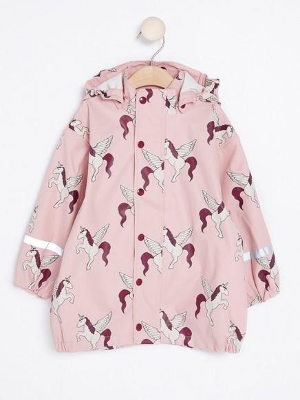 Vzorovaná bunda dodeště Růžová