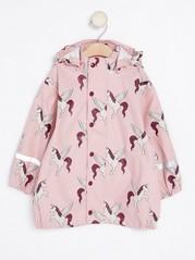 Patterned Rain Jacket Pink