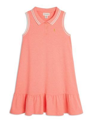 Sleeveless Pique Dress Coral