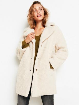 Teddy Coat White