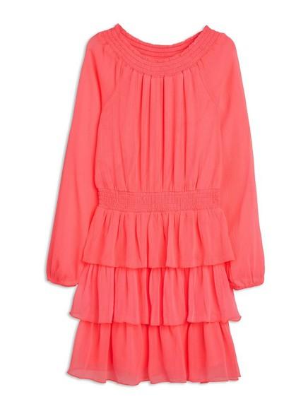 Chiffon Dress Coral