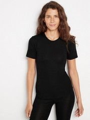 T-shirt i merinoull Svart