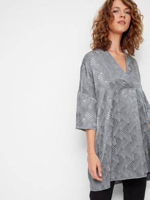 Oversized Blouse in Viscose Green